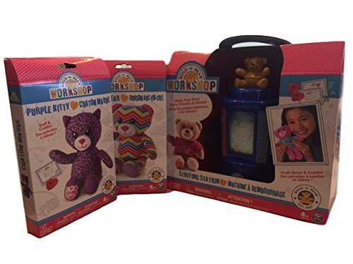 Build-A-Bear Workshop Stuffing Station Bundle with Purple Kitty and Rainbow Bear Refill Kits (Build A Bear Bundle compare prices)