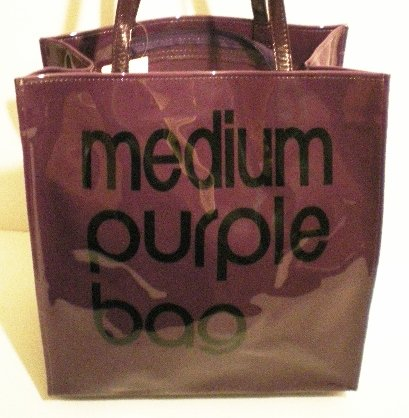 Little Brown Bags - Medium Purple Bag - Shopper Tote Handbag