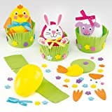 3D Easter Egg Character Kits for Children to Make Decorate and Display (Pack of 3)