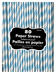 Pastel Blue Paper Straws (80ct)