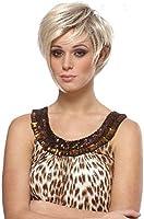 Blonde Perücke, kurzes Haar