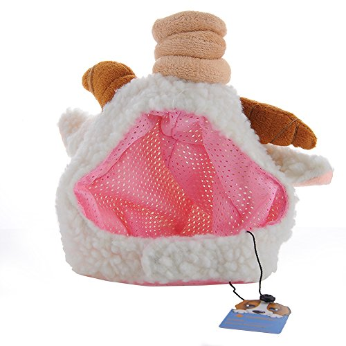 Artikelbild: Haustier Hund Katze Haustier Schaf Kappe Hut (Futter Farbe zufällig) - L