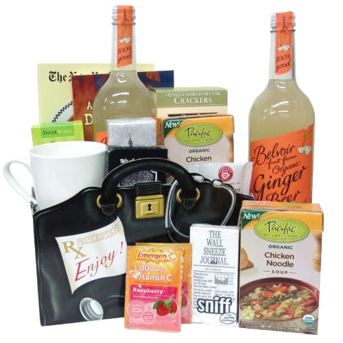 Get Well Gift Basket With Food To Wish Someone A Speedy Recovery