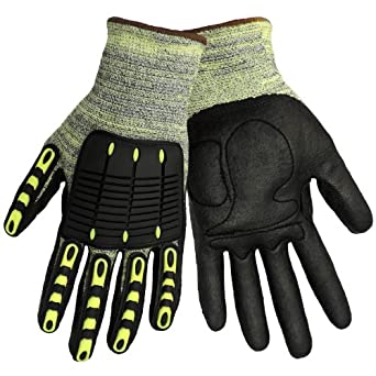 Global Glove CIA609 Aralene Kevlar Foam Nitrile Dipped Glove, Cut Resistant, Extra Large (Case of 72)