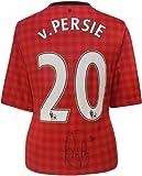 ロビン・ファン・ペルシー直筆サイン入りユニフォーム (2012/13 Manchester United: Home)