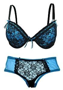 Set: Lace Overlay Bra and Panty Set