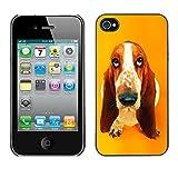 iKiki Tech Hard Case Cover Basset Hound  Pendant Ear Dog Apple Iphone 4 4S