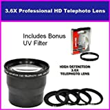 3.5X HD Professional Telephoto lens For Kodak Easyshare P850 P712 Includes Bonus 72MM Protective UV Filter Tube Adapter Included