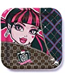 """American Greetings Monster High 7"""" Square Plates (8-Pack), Party Supplies"""