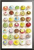 Shooter, Howard – Poster – Cupcakes + Wechselrahmen der Marke Shinsuke® Maxi aus edlem Aluminium (ALU) Profil: 30mm schwarz
