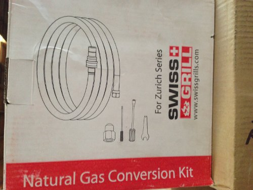 Swiss Grill NGCK-ZU Natural Gas Coversion Kit with Hose and Tools to Convert Zurich Series to Natural Gas