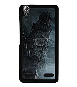 Fuson Premium 2D Back Case Cover Clock tower With white Background Degined For Lenovo A6000 Plus