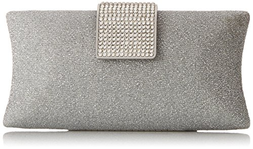 MG Collection Claudia Glitter Rhinestone Baguette Hard Case Style Evening Bag