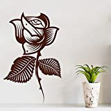 Decal Style Style Rose Flower Sticker Large Size-29*47 Inch Color - Brown