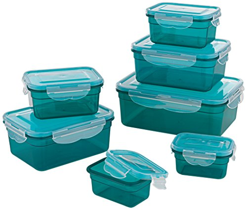 gourmetmaxx-02914-plastic-food-storage-container-set-14-pieces-dishwasher-safe-clip-lid-food-contain