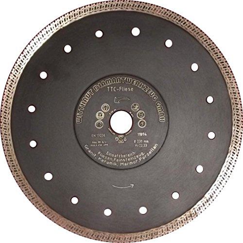 Diamant-Trennscheibe für Fliesen und Feinsteinzeug, schwarz, TTC-Fliese