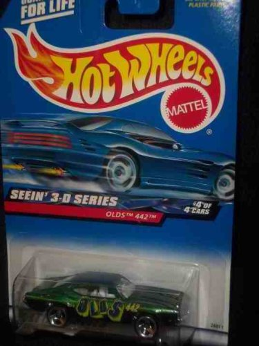 Seein' 3-D Series #4 Olds 442 3-Spoke #2000-12 Collectible Collector Car Mattel Hot Wheels 1:64 Scale