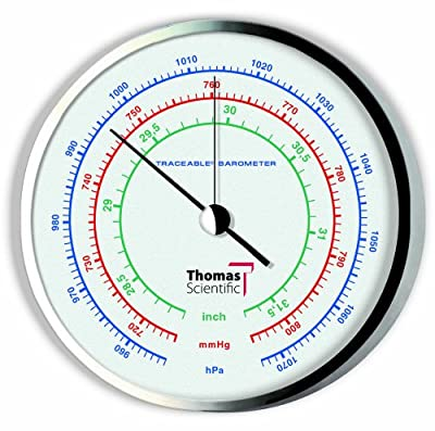 Thomas Traceable Precision Dial Barometer, 1-4hrs Response Time, 954 - 1073 mbar Pressure, 0.5 mbar Resolution from Thomas