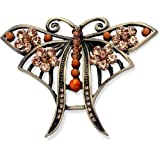 Code Red Antiqued Topaz Butterfly Broochby Code Red