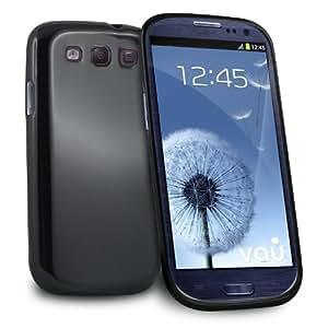 vau PowerGrip Case für Samsung Galaxy S3 - Pianolack schwarz - TPU Skin-Tasche, Schutzhülle