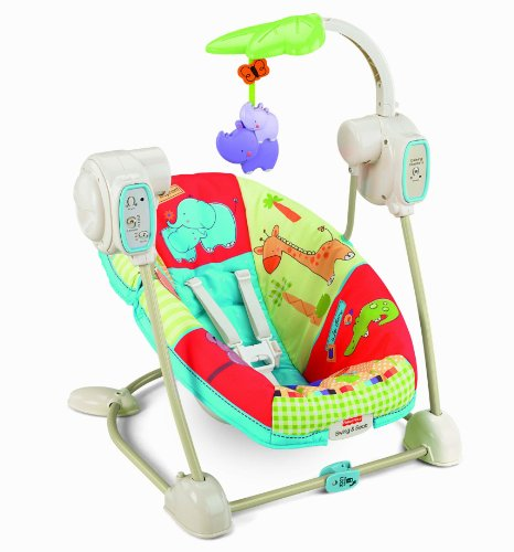 Fisher-Price Luv U Zoo Space Saver Swing and