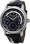 Mens Frederique Constant worldtimer watch. Blue dial FC-718NWM4H6