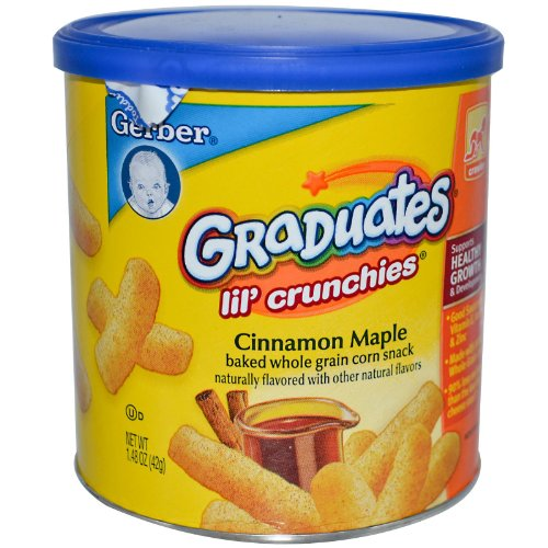 Gerber Graduates Lil' Crunchies, Cinnamon Apple, 1.48 oz - 1