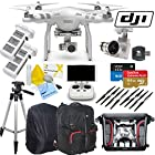 DJI Phantom 3 Advanced Quadcopter Drone with 1080p HD Video Camera & CS Kit: Includes Handheld Transmitter (Radio Controller), Sandisk 64GB Extreme Plus MicroSD Memory Card, Lexar 16GB 633x MicroSD Memory Card, SD Card Reader, 2x Intelligent Flight Batteries, Phantom 3 Backpack, 2 Sets of Propellers, Smart Battery Charger, Backpack Rain Cover, Full Size Tripod, Backpack Tripod Bag, Brush Blower, Cleaning Kit & CS Microfiber Cleaning Cloth