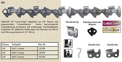 """Sägekette passend für Stihl MS 150 30 cm 1//4/"""" 64 TG 1,1 mm Halbmeißel chain"""