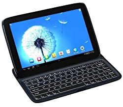 FlyStone Aluminum Bluetooth Keyboard Protective Case Cover Stand for Google Nexus 10 Android Tablet Made by Samsung (Nexus 10 BLACK)