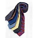 7Piece 100% Pure Silk Ties. Made in England. (106D)RRP£139.99