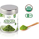 Matcha Green Tea Powder [USDA Organic] Japanese Tea Premium Ceremonial Grade - Powerful Antioxidant Perfect for Sipping as Tea - 40 grams (1.41 oz)