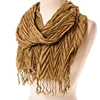 Gold Pleat Scarf