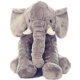 KiKi-Monkey-Baby-Kinderkopfkissen-Kleinkind-Schlaf-Grauer-Elefant-elephant-pillow-Stuffed-Plsch-Kissen-Kinderzierkissen-Plschtiere-100-Baumwolle-40cm37cm25cm