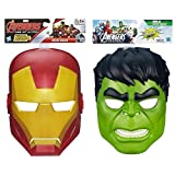 Marvel Avengers Assemble Iron Man Mask & Hulk Hero Mask Bundle