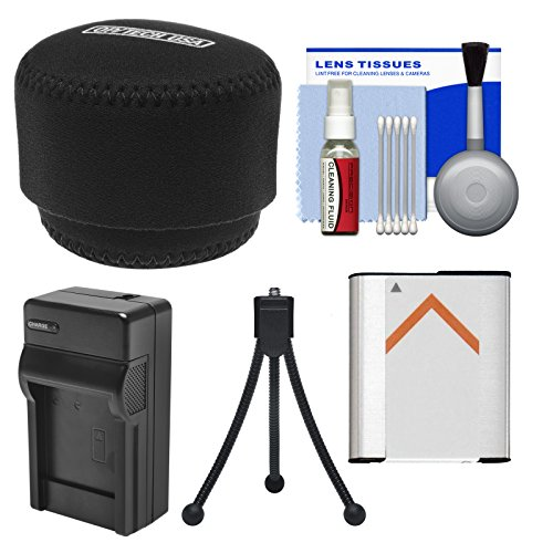 Essentials Bundle For Sony Cyber-Shot Dsc-Qx10 Smartphone Attachable Lens-Style Camera With Case + Np-Bn1 Battery & Charger + Flex Tripod Kit