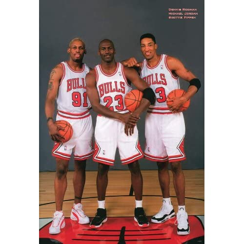 Amazon.com : J-4375 Micheal Jordan, Rodman, Pippen Basketball Wall