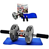 Best Deals - Powerstretch AB Wheel Roller Exercise Fitness Slim Body Roller Power Stretch