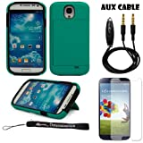 Hard Shell Protective Case with Stand and Card Holder For Samsung Galaxy S4 Android Smartphone 4G LTE (Jelly Bean)