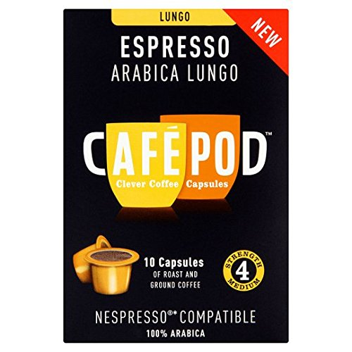 Get Cafepod Lungo 4 Coffee Pods 10 Servings from Cafepod