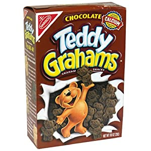 Teddy Grahams Snacks, Chocolate, 10-Ounce Boxes (Pack of 6)