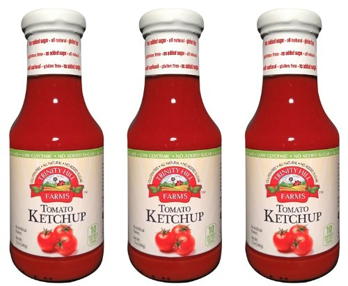 Trinity Hill Farms Tomato Ketchup 12oz Sweetened with Steviva (PACK of 3)