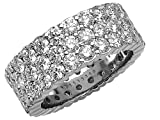 5.25 cttw Round Diamonds Eternity Band by Karina B(tm) - Platinum, 18kt White or Yellow Gold