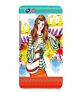 Fuson Nice Girl Back Case Cover for MICROMAX CANVAS FIRE 4 A107 - D4122