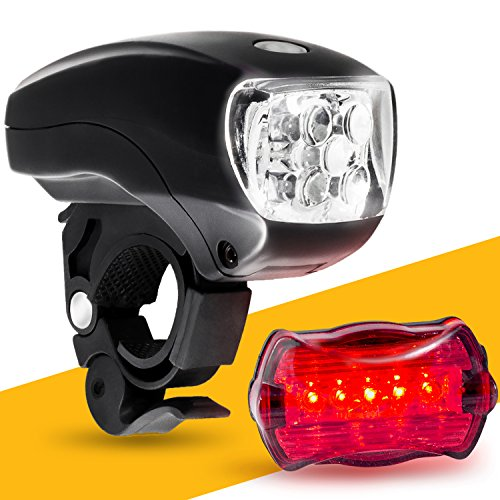 LED BIKE LIGHT SET. Bicycle headlight & taillight