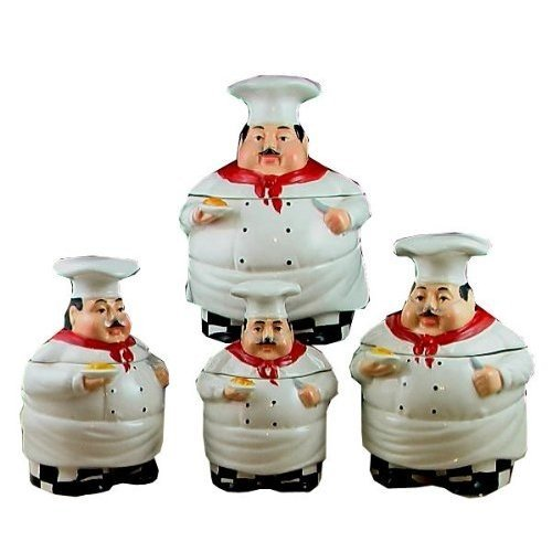 Fat Chef Kitchen Canister Set