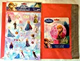 Frozen Pink Night Light Featuring Princess Anna and Puffy Stickers Gift Pack (29 Pieces) (Anna)