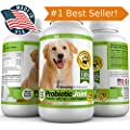 PROBIOTICS FOR DOGS - ON SALE! Get Probiotic Joint © The Best Dog Probiotic To Treat Your Dog, Now With 60 FREE Tablets for a Total of 120 Great-Tasting Chewable Bacon Flavored Tablets in One Bottle. Eliminates Diarrhea, Constipation, Upset Stomach, Gas, Stiffness, Plus Arthritis Pain Relief. Combines Live Lactobacillus Acidophilus and Natural Enzymes Like Fortiflora with Glucosamine, MSM, and Chondroitin for Maximum Digestive Health and Joint Mobility. Manufactured in Our USA-Based GMP and Organic Certified Facility. Third Party Tested for Purity So It's Safe and Effective for Dogs. GUARANTEED!