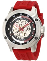 Stuhrling Original Men's 314R.3316H64 Sportsman Zeppelin 360 Automatic Skeleton Red Watch