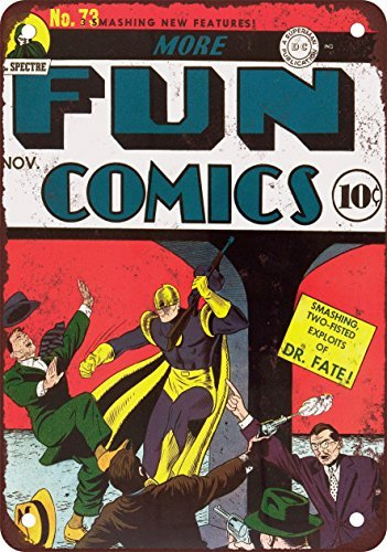 more-fun-comics-73-vintage-look-reproduction-metal-tin-sign-8x12-inches